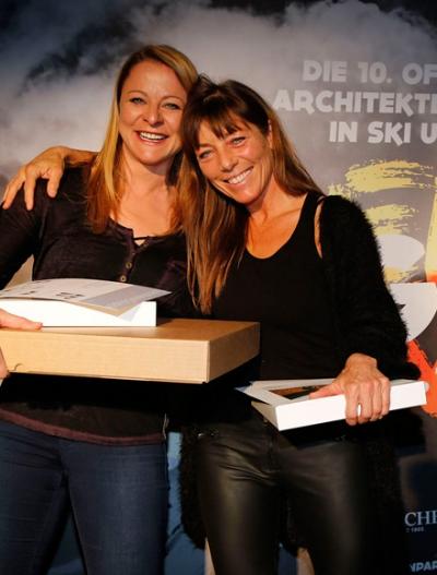 Snowboard Damen: 1. Platz Ulrike Schneider, 2. Platz Anne Batisweiler